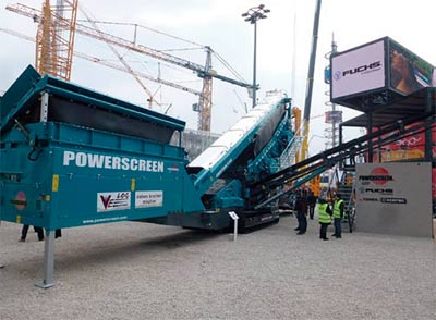 Powerscreen - criba Chieftain 2200 de 3 paños